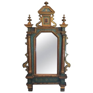 Early 19th Century Antique Venetian Hand Painted Mirror For Sale