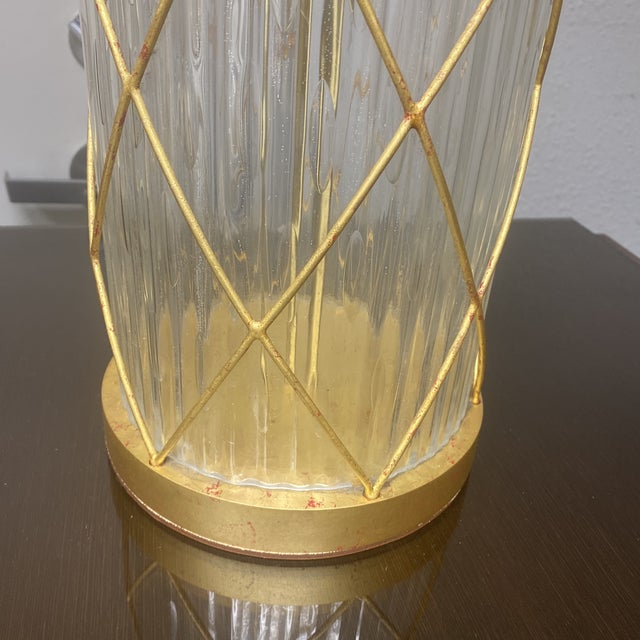 Glass Fisher Weisman Montgolfier Grand Table Lamps - a Pair For Sale - Image 7 of 12