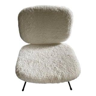 Faux-Fur Accent Chair For Sale