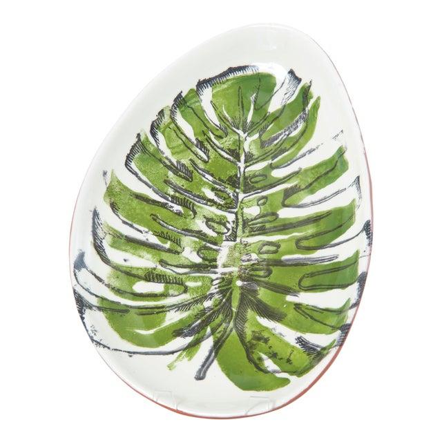 Palmetto Oval Ceramic Platter For Sale