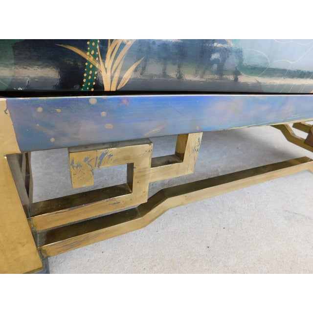 Maitland Smith Chinoisere Decorated Lacquered Cocktail Coffee Table For Sale - Image 12 of 13