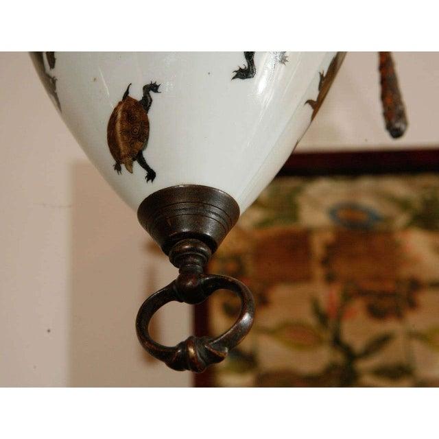 Blue European Japanese Style Porcelain Pendant For Sale - Image 8 of 10