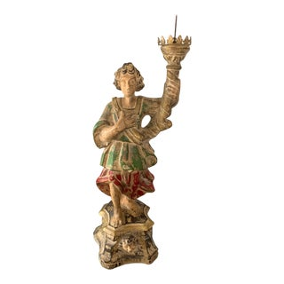 Vintage Italian Style Madonna Candle Holder For Sale