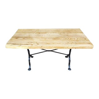 Handcrafted Industrial Reclaimed Pine Bistro Dining Table For Sale