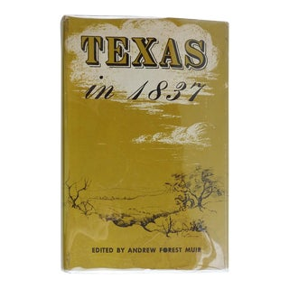 Texas in 1837: An Anonymous, Contemporary Narrative For Sale