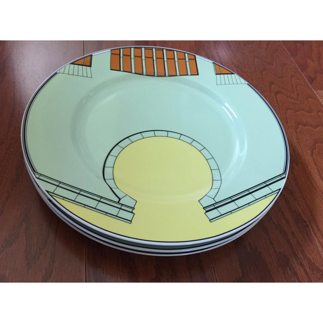 1980s Pastel Modern Chargers - Set of 5 For Sale - Image 9 of 13