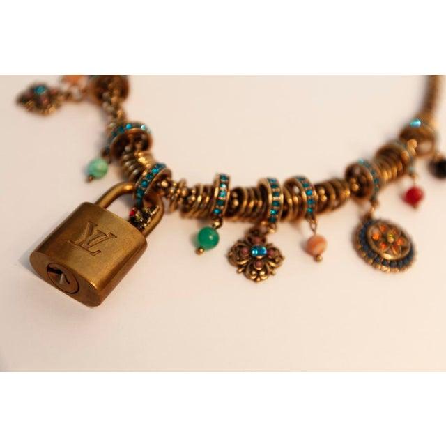Louis Vuitton Louis Vuitton Charm Necklace For Sale - Image 4 of 5