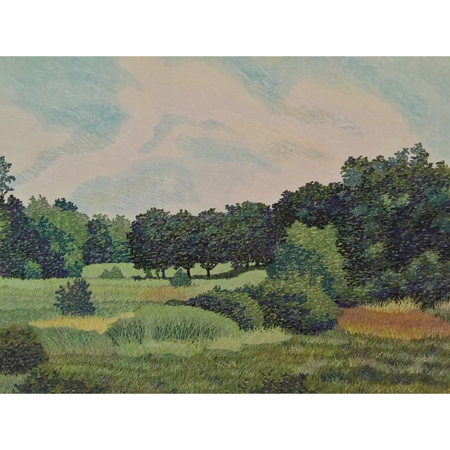 West Baker Park Color Woodcut by Mortensen For Sale - Image 4 of 7