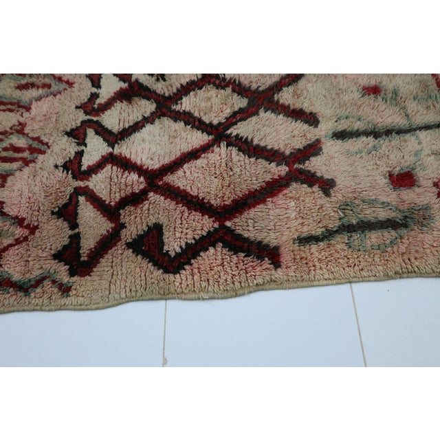 1970s 1970s Vintage Boujad Moroccan Rug - 2′10″ × 5′9″ For Sale - Image 5 of 6