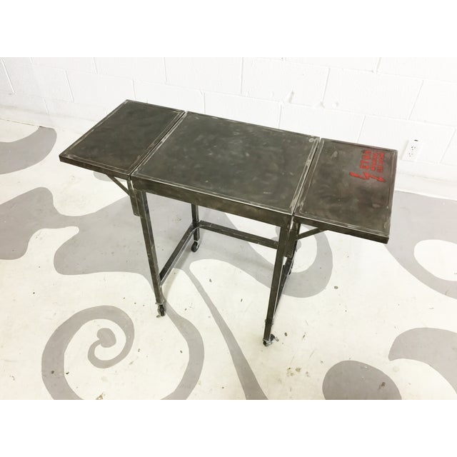 Industrial Metal Cart With Russian Industrial Sign - Image 4 of 6