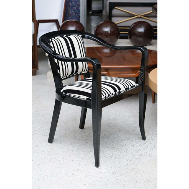 Set of Ten Ebonized Armchairs in the Style of Ed Wormley for Dunbar For Sale In Miami - Image 6 of 9