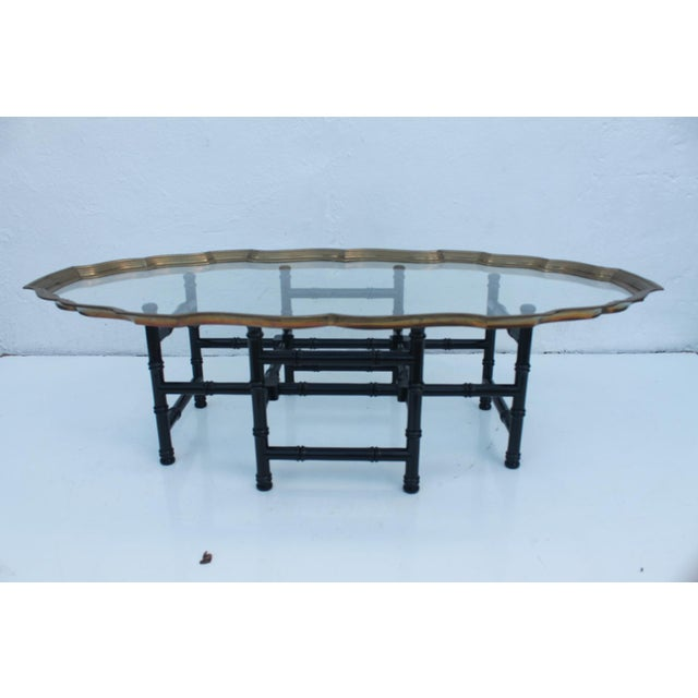Vintage Brass & Glass Tray Coffee Table