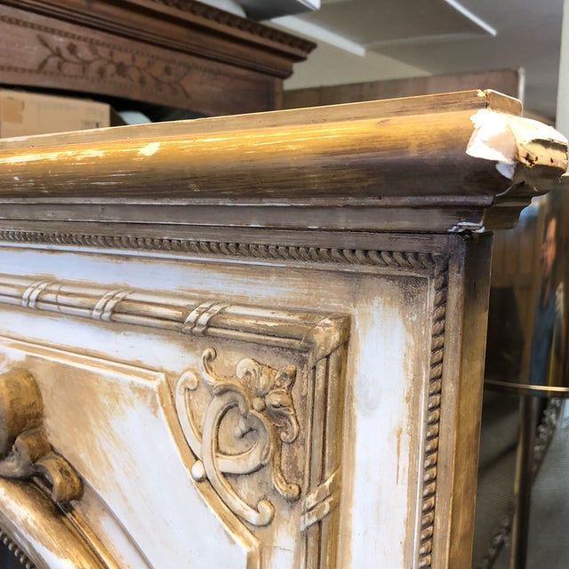 Antique French Wood & Plaster Mirror For Sale - Image 10 of 11