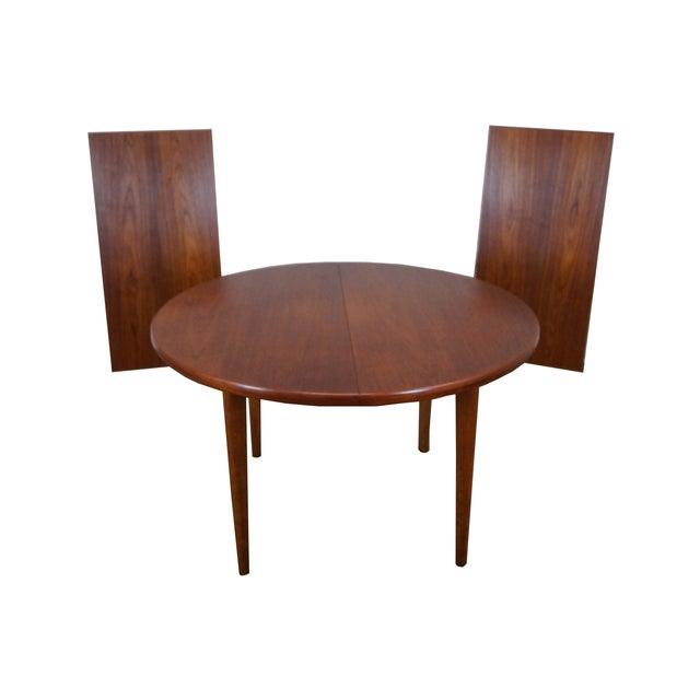 Vintage Round Teak Danish Dining Table - Image 1 of 10