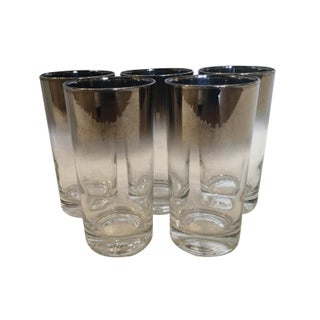 Vintage Dorothy Thorpe Silver Highball Glasses - Set of 5 For Sale
