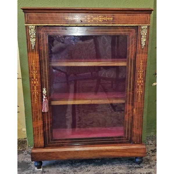 French 19c French Louis XVI Style Vitrine For Sale - Image 3 of 13