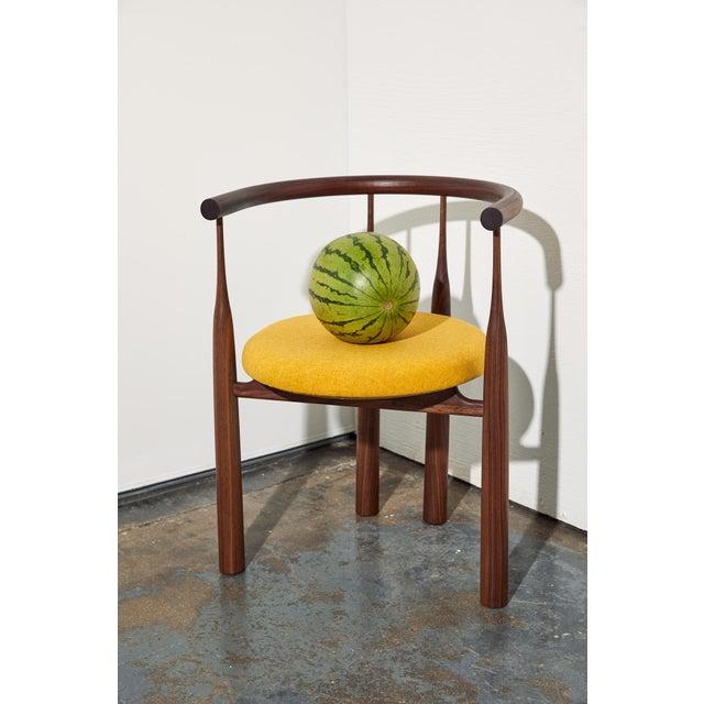 Steven Bukowski Steven Bukowski Bellbottom Chair in Walnut For Sale - Image 4 of 6