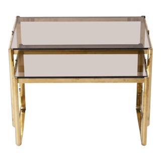 Bronze Nesting Table by Jacques Quinet, C. 1960 For Sale