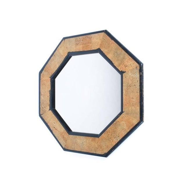 Peter Maly Cork and Wood Mirror by Peter Maly, circa 1970 For Sale - Image 4 of 4