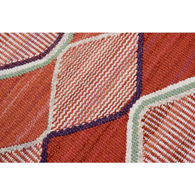 Fabric Vintage Barbro Nilsson Flat-Weave Swedish Carpet for Marta Maas-Fjetterström For Sale - Image 7 of 10