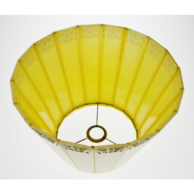 Ivory Mid Century Emeloid Lampshade For Sale - Image 8 of 13