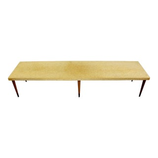 1950s Vintage Mid-Century Modern Paul Frankl Cork Wood Coffee Table For Sale