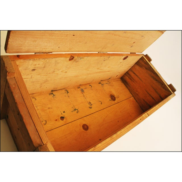 Vintage Wood Military Ammunition Trunk - Image 11 of 11