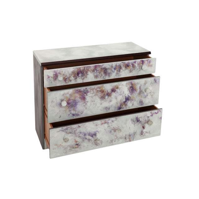 Abstract Where Did He Go?, Hand-Painted Chest of Drawers by Atelier Miru For Sale - Image 3 of 7