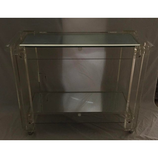 1970s Mid-Century Modern Mirrored Bar Cart Trolley For Sale - Image 12 of 13