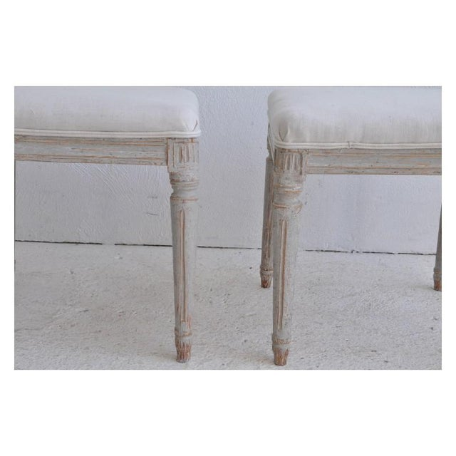19th Century Pair of Swedish Late Gustavian Stools For Sale In Wichita - Image 6 of 7