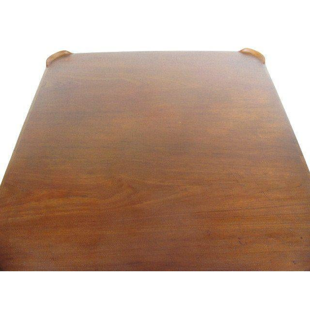 1950s Mid-Century Modern Finn Juhl for Baker Teak Card Table For Sale In Tampa - Image 6 of 10