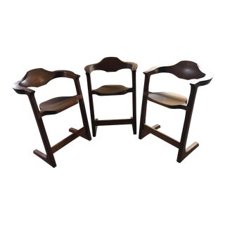 Modern Joseph Van Bentsen Sled Foot Chairs - Set of 3 For Sale