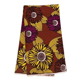 Sunflower African Print Fabric - 6 Yards