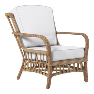 Viscaya Club Chair in Natural Canvas For Sale