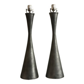 Abstract Arteriors Home Cast Aluminum Narsi Lamps - a Pair