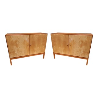 A Pair of Teak and Parchment Sideboards, Denmark 70'