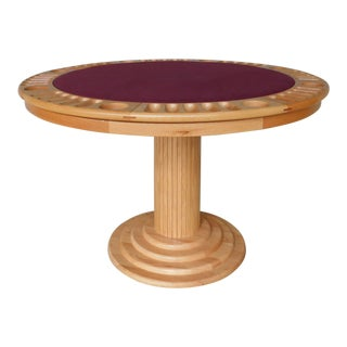 Whitaker Furniture Solid Oak Game Poker Table For Sale