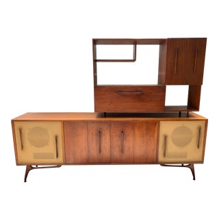 Mid Century Danish Teak Bar / Entertainment Center For Sale