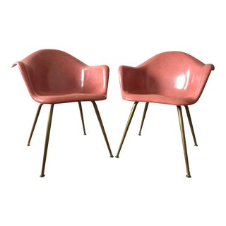 Vintage Cromcraft Fiberglass Modern Chairs - a Pair For Sale