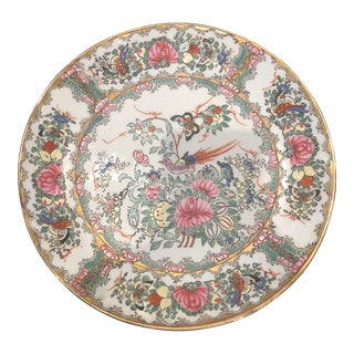 Rose Chinese Wall Plate For Sale