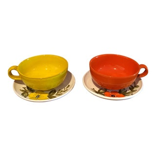 Rosenthal-Netter Mid-Century Oversized Cup and Saucer - a Pair For Sale