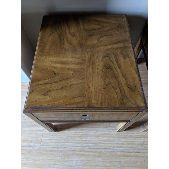 1970s 1970s Campaign Drexel Side Tables - a Pair For Sale - Image 5 of 8