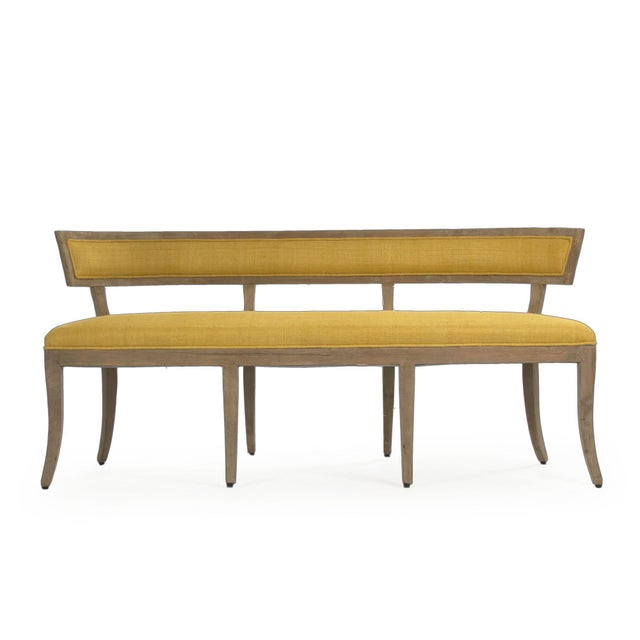 2020s Earls Bench in Yellow For Sale - Image 5 of 5