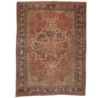 Antique 19th Century Persian Sarouk Carpet For Sale