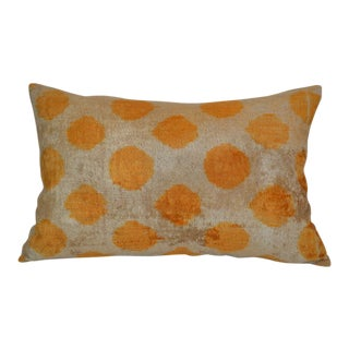 Liara Silk Velvet Ikat Pillow