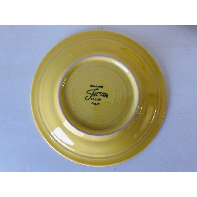 Fiesta Ware Yellow Bread Plates S-4 For Sale - Image 4 of 5