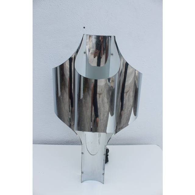 Robert Sonneman 1969 Space Age Chrome Table Lamp - Image 3 of 11
