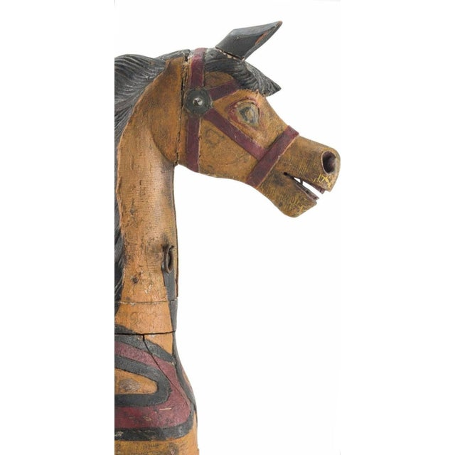 19th Century Charles Dare American Hand Painted & Carved Carousel Horse Figure For Sale - Image 10 of 11