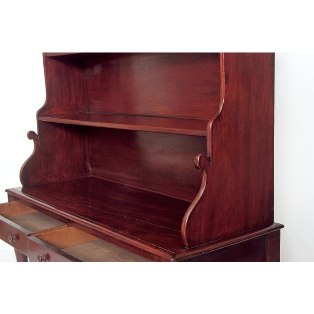 Mahogany Pair of English Regency Dwarf Waterfall Bookcases For Sale - Image 7 of 10
