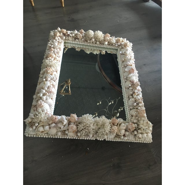 Exceptional Grotto Mirror, Great Attention Paid to Detail From a Promenate Florida Estate. Can Be Hung Vertical Or...